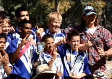 Unsung hero: Chris Kirkland has been the backbone of the Collarenebri Rugby League club since 2009.