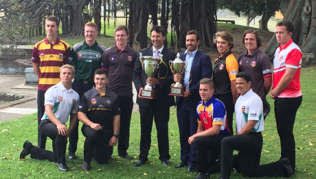 Brad Fearnley represents Western Rams at the launch of the U18 Laurie Daley Cup and U16 Andrew Johns Cup.