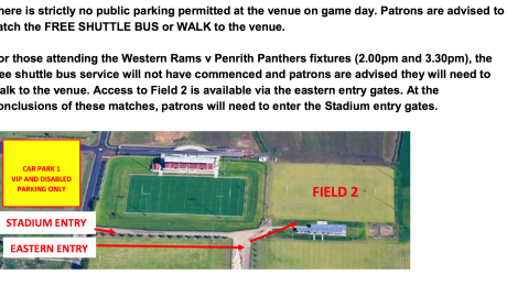 IMPORTANT: Match day information Charity Shield